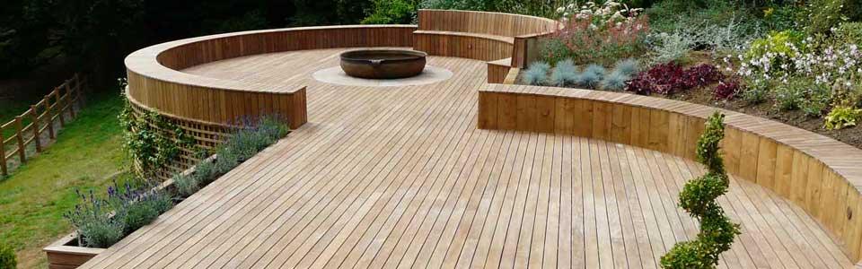 Garden decking in guildford pc landscapes for Garden decking quotes uk