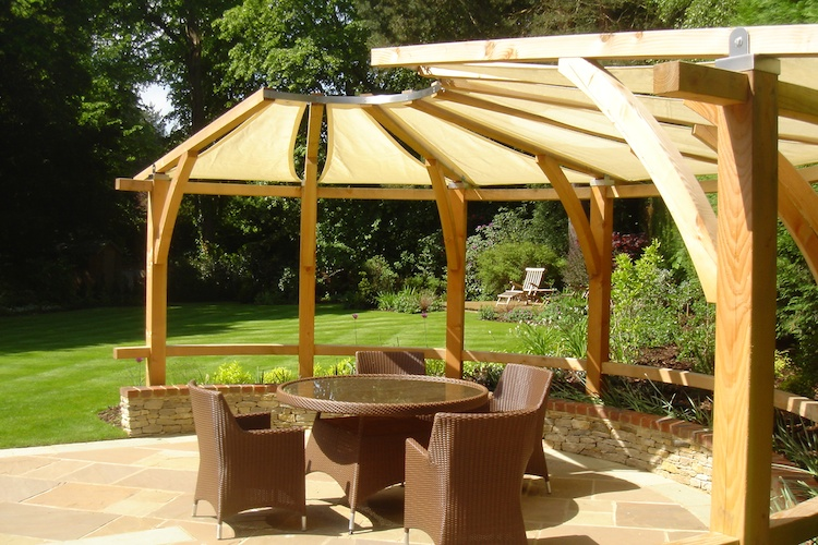 Timber pergola in Farnham