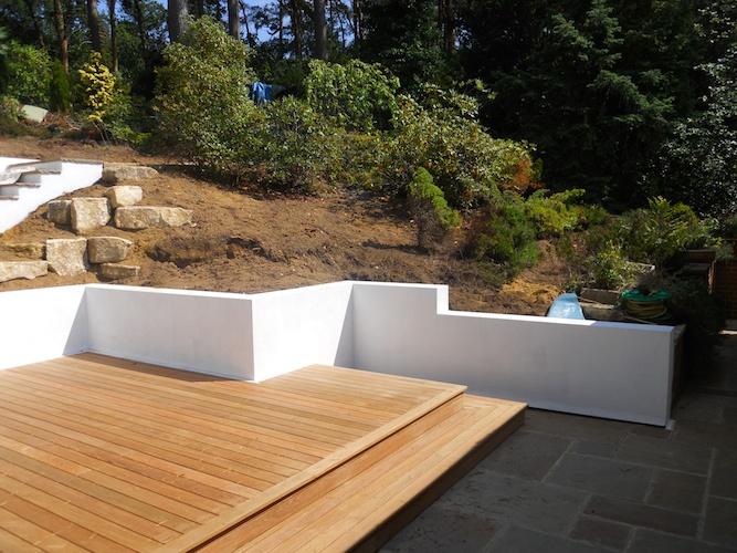 Retaining Garden Wall in Farnham PC Landscapes