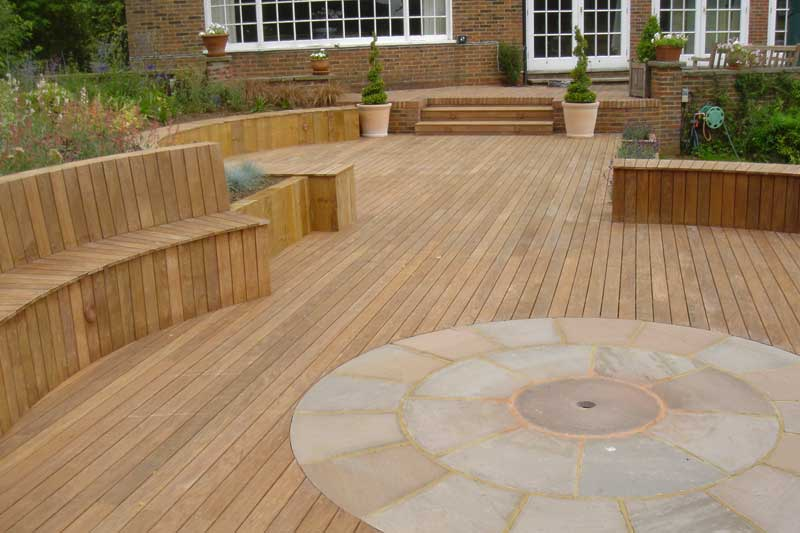 Godalming decking two pc landscapes for Best timber for decking