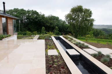 Paving and water feature in Hampshire