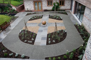 sensory garden and soft fall surface in Hampshire