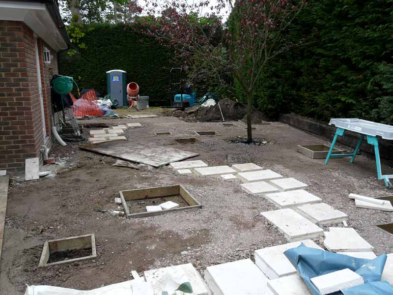 Construction of gravel garden in Berkshire