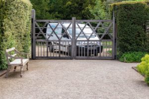 PC Landscapes van behind one Exbury's oak gates