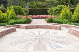 The Rothschild's 5 arrows symbol in the new Centenary Garden at Exbury Gardens