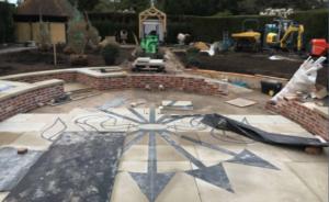 Rothschild 5 arrows symbol at Exbury Centenary Garden