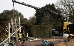 Exbury Centenary Garden construction by PC Landscapes