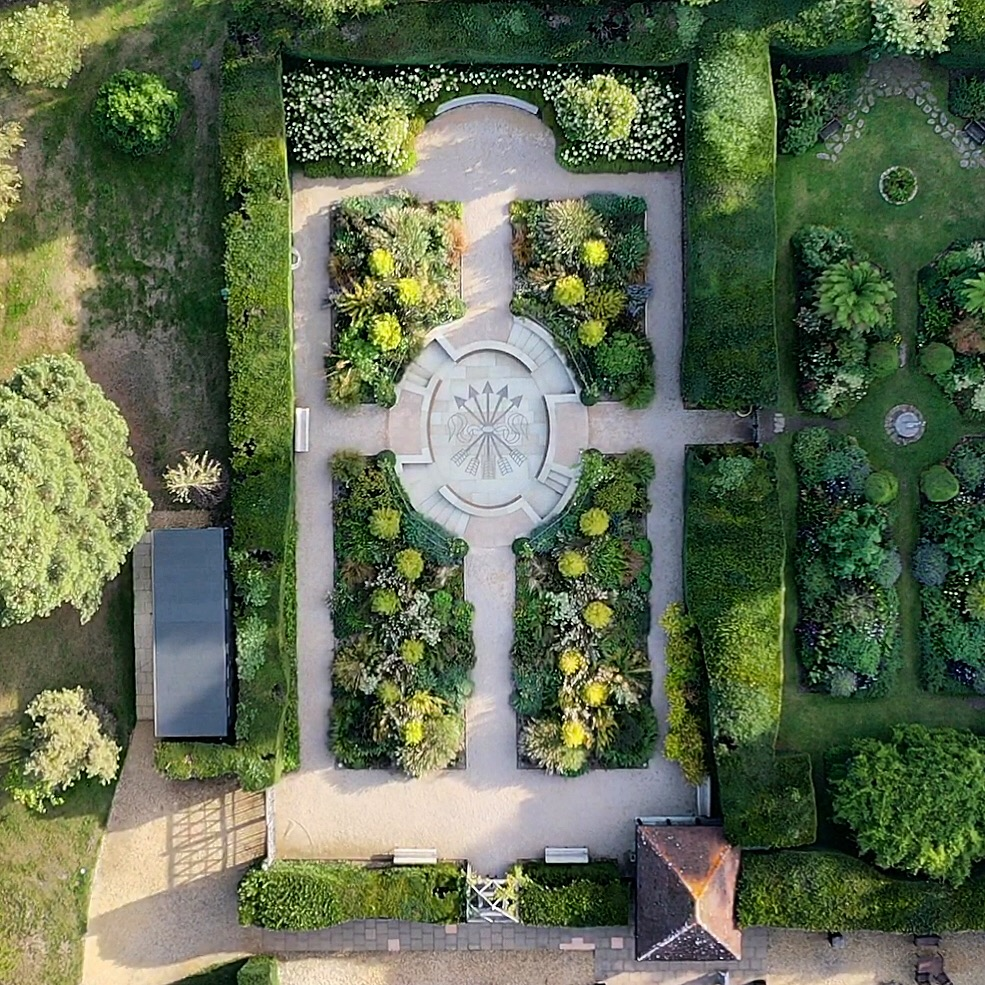 Aerial view of Exbury's Centenary Garden - Photo by Marie-Louise Agius