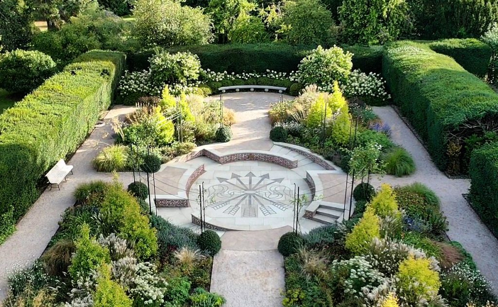 Aerial view of Exbury Centenary Garden - Photo by Marie-Louise Agius