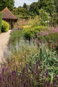Perennial border overlooking the cafe', Exbury Centenary Garden