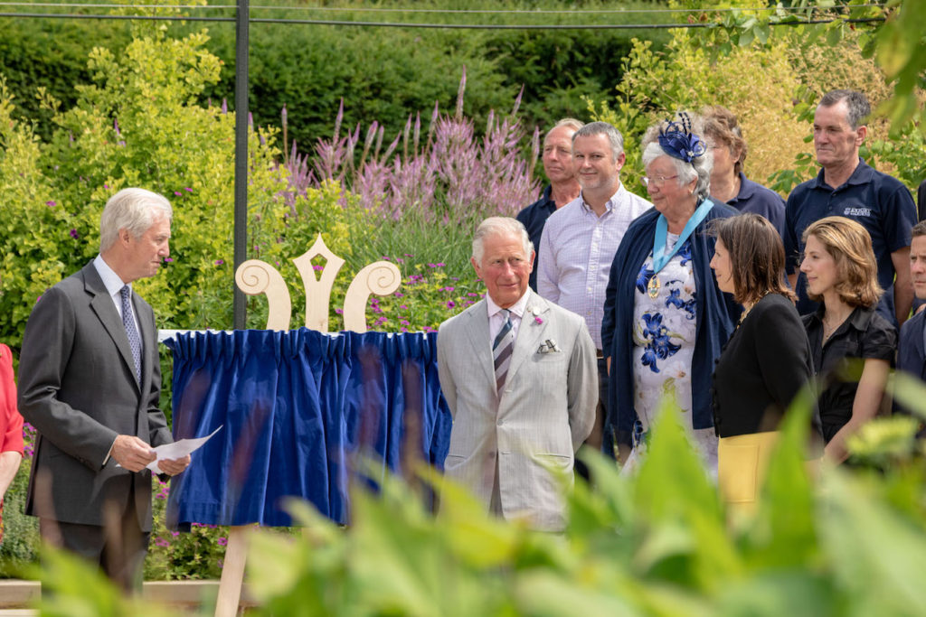 HRH The Prince of Wales at Exbury Centenary Garden official opening