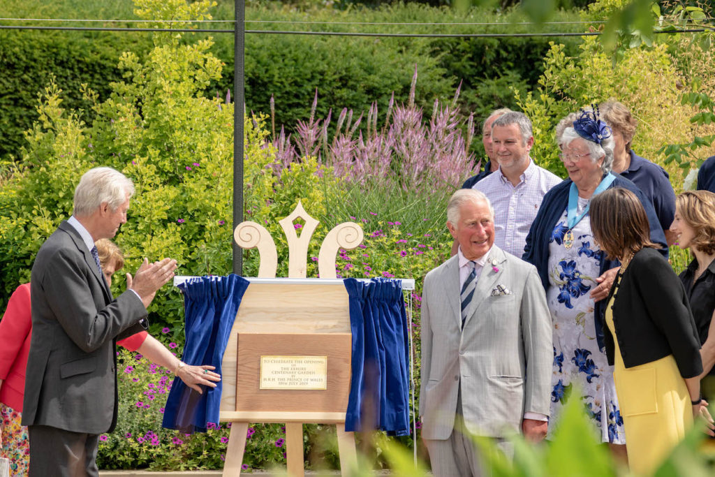 His Royal Highness Prince of Wales Charles inaugurate Exbury Centenary Garden, New Forest