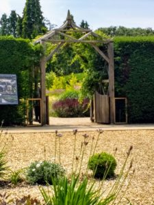 The new oak Pergola welcoming visitors in the new Centenary Garden