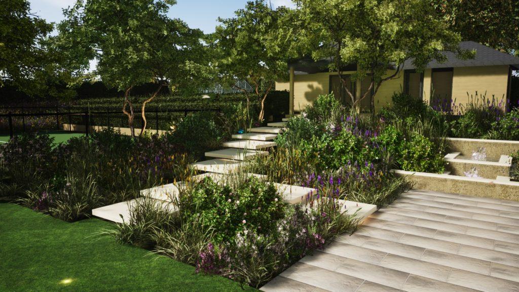 PC Landscapes Floaring Steps Surrey Garden Design